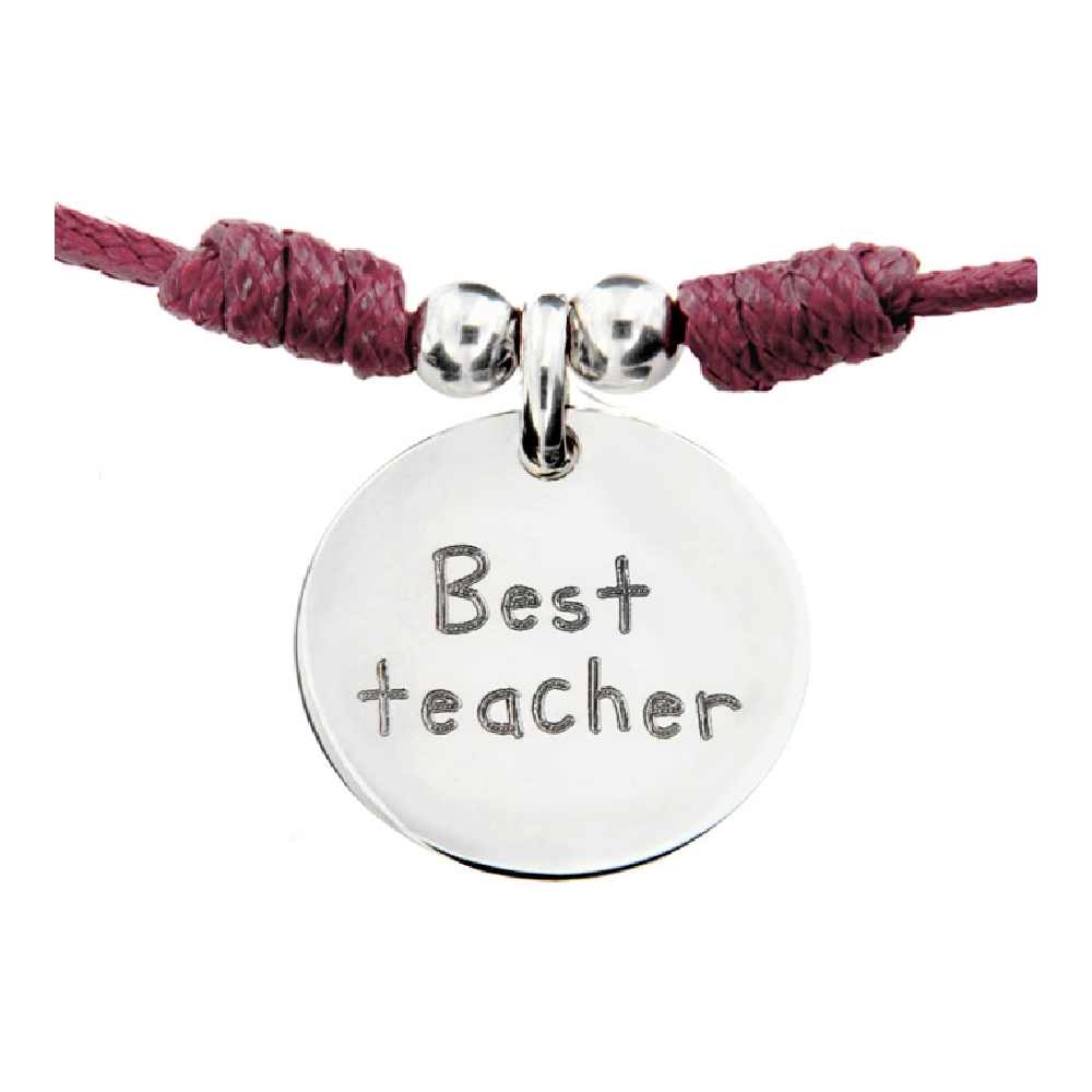 Gargantilla de Plata \'Best teacher\'