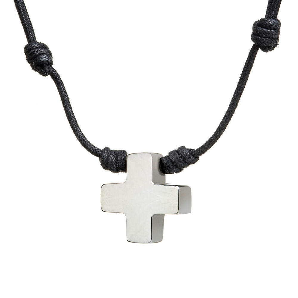 Collar Cruz Hueca 24 Mini