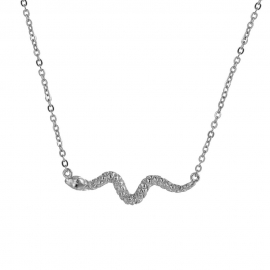 Collar Serpiente Plata